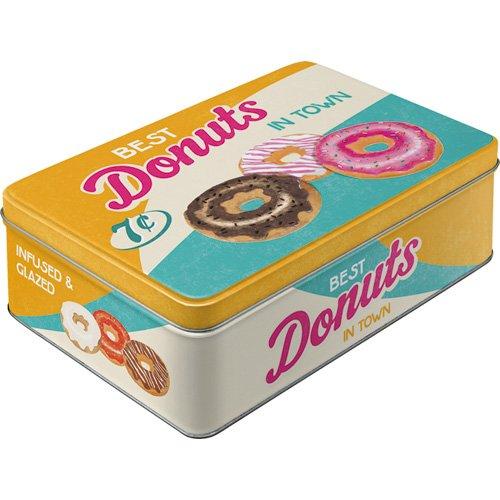 Nostalgic-Art 30730 USA - Donuts, Vorratsdose Flach (Usa Donut)