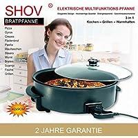 Elektrische Pfanne Ø 42/9cm Pizzapfanne Partypfanne Elektropfanne Bratpfanne