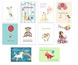 40er Set: Geburtstagskarten Glückwunschkarte Kinder Kindergeburtstag Klappkarten mit 40 Umschlägen