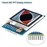 Innovateking-EU LCD Display I2C TFT LCD Anzeigen Modul 1,6 Zoll SPI LCD-Bildschirm Treiber 3.3V / 5V 130x130 SSD1283A für Arduino D1 Mini -