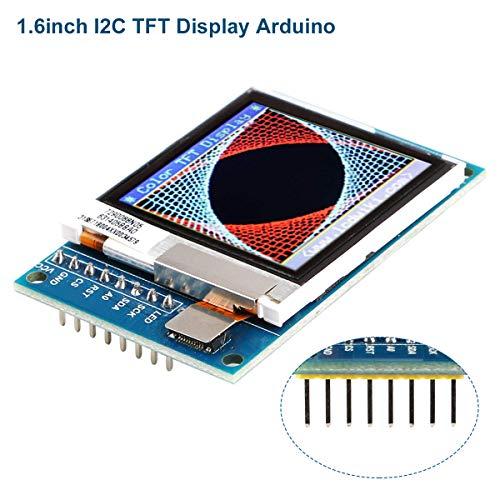 Innovateking-EU LCD Display I2C TFT LCD Anzeigen Modul 1,6 Zoll SPI LCD-Bildschirm Treiber 3.3V / 5V 130x130 SSD1283A für Arduino D1 Mini