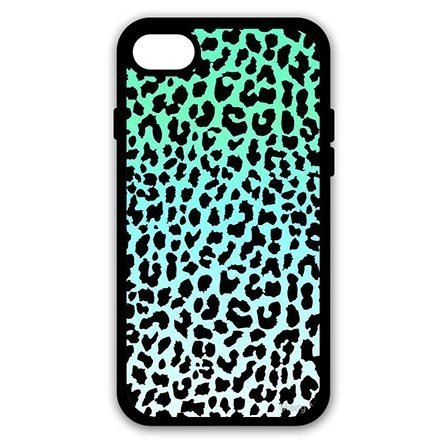 Sweet Light Blue Leopard Print iPhone 7 Plus - 5.5 Inch Hard Back Case Cover for Boys