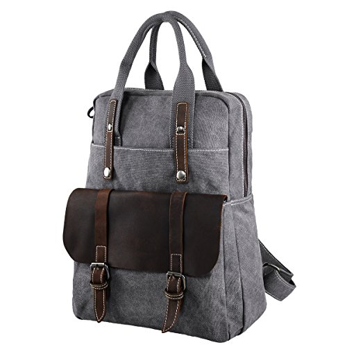 s-zone-canvas-genuine-leather-travel-school-bags-156-inch-laptop-handbag-backpack-rucksack-daypack