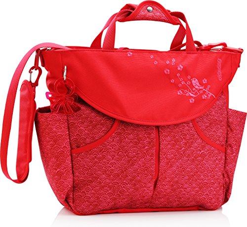 okiedog Sumo Wickelrucksack Sakawa rot - inklusive Wickelunterlage, Flaschenhalter, Zubehörbeutel und Taschenbefestigungssystem für den Kinderwagen (Designer Geldbörse Inspirierte-tasche)