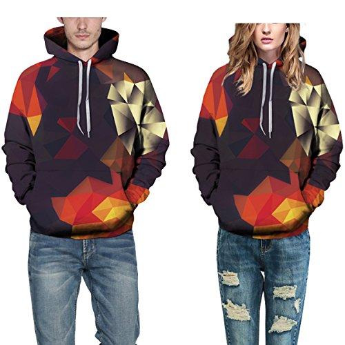 Sweatshirt Hoodies 3D Imprimer Cordon À Capuche À Manches Longues Décontracté Respirant Jumper Avec Grande Poche Pour Hommes Femmes Couples Photocolor