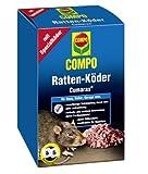 COMPO Ratten-Köder Cumarax®,Warfarin-Köder auf Basis von behandeltem Getreide gegen Ratte im und am Haus, 500 g