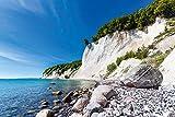 Artland Qualitätsbilder I Wandtattoo Wandsticker Wandaufkleber 90 x 60 cm Landschaften Küste Foto Blau C8YT Kreidefelsen auf der Insel Rügen 2