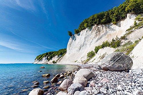 Insel Rügen (Artland Qualitätsbilder I Wandtattoo Wandsticker Wandaufkleber 90 x 60 cm Landschaften Küste Foto Blau C8YT Kreidefelsen auf der Insel Rügen 2)