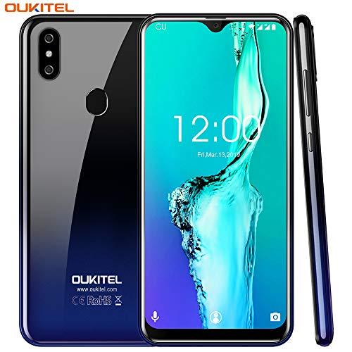 OUKITEL C15 Pro 4G LTE Téléphones Portables Débloqués Pas Cher,6.088 Pouces HD Display, Android 9.0 Dual, 2Go RAM+16Go ROM 2.0GHz Quad Core ?8MP+2MP+5MP Caméras,3200mAh Smartphone-d'or