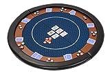Riverboat Gaming Kompakte Faltbare Pokerauflage mit wasserabweidenden Stoff und...