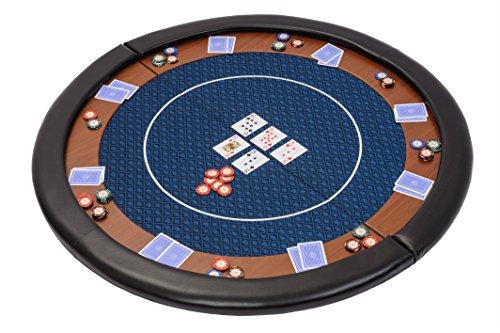 Riverboat Gaming Kompakte Faltbare Pokerauflage mit wasserabweidenden Stoff und Tasche – Blau Pokertisch 120cm