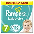 Pampers Baby-Dry Nappies Monthly Saving Pack
