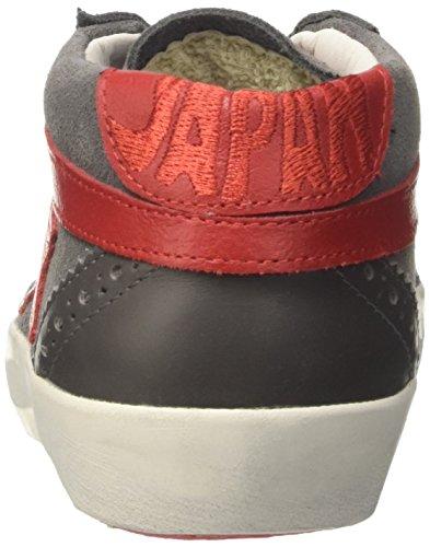 Ishikawa Japan, Sneaker a Collo Alto Unisex-Adulto Grigio