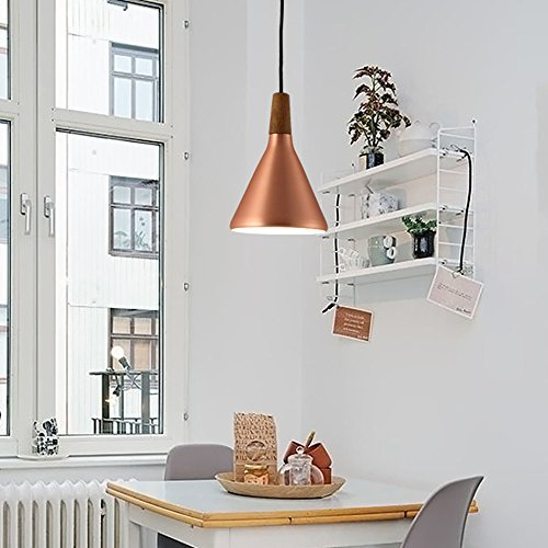 LED-Kronleuchter, Nussbaum Nordeuropa postmodernen Restaurant Bar Schlafzimmer Studie Bettseite Kronleuchter Beleuchtung -