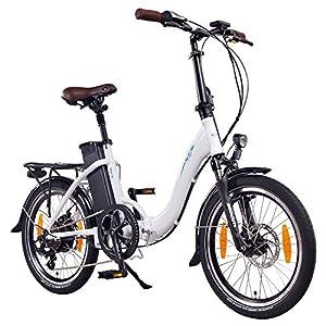 NCM Paris 20 Zoll E-Faltrad E-Bike, 36V 250W Motor, 15Ah 540Wh Li-Ion Akku, weiß