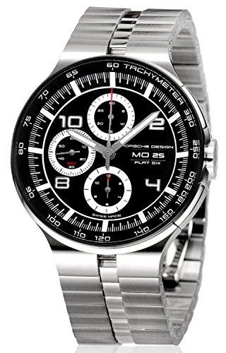 Porsche Design Flat Six Cronógrafo Reloj de hombre reloj de pulsera P '63606360.42.44.0276ETA valj oux 7750Swiss Made caja acero inoxidable banda acero inoxidable cerámica Bisel Esfera Negro manecillas Plata Day/Date
