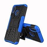 XINYUNEW Funda Huawei P20 Lite/Nova 3E, 360 Grados Protective+Pantalla de Vidrio Templado Caso Carcasa Case Cover Skin móviles telefonía Carcasas Fundas para Huawei P20 Lite/Nova 3E-Azul