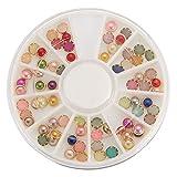 TENGGO Rotonda Multi Colori Nail Art Decorazione Perline Gemme Ruota Design Fai Da Te In Resina Carina