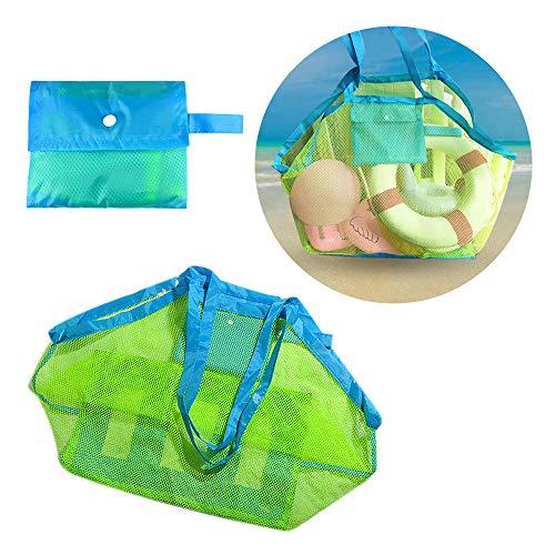 Spielzeug-speicher-organisator (Locisne Große Netz-Strand-Einkaufstasche, Wasser-u. Sand-Weg-Strand-Netz-Beutel-Kinderreise-Tuch-Spielzeug-Organisator-Speicher-Tasche)