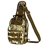 GADIEMKENSD Military Tactical Sling Chest Pocket Leisure Lnclined Shoulder Camouflage Bag Fo...
