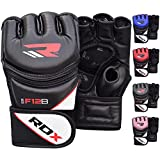 RDX Maya Hide Leather Grappling MMA Gloves UFC Cage Fighting Sparring Glove Training F12