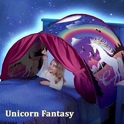 Puddingt® tenda da sogno per bambini, tenda da gioco pieghevole pieghevole, tenda da letto pop-up fata playhouse play tenda da letto tenda decorazione festival,starrysky