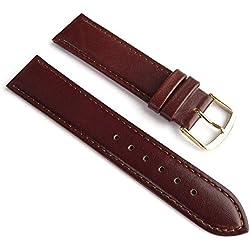 Ersatzband Uhrenarmband Büffelleder Braun 20267G, Stegbreite:20mm