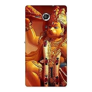 Cute Lord Hanuman Multicolor Back Case Cover for Sony Xperia SP