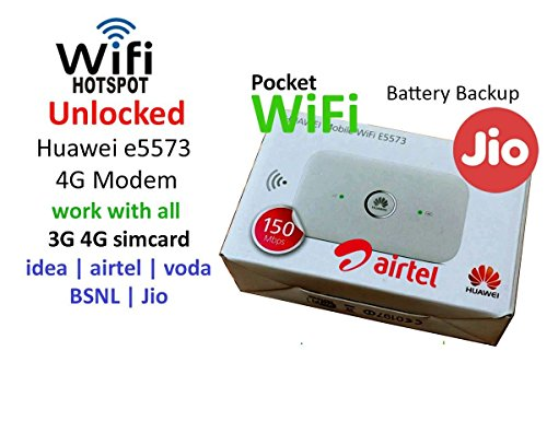 Airtel Huawei E5573 3G/4G Wifi Hotspot (White) Best Deals With Price
