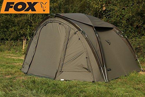 Fox Easy Dome Maxi 2-man Angelzelt zum Karpfenangeln, Karpfenzelt, Anglerzelt, 2-Mann-Zelt, Zelt für 2 Personen zum Nachtangeln