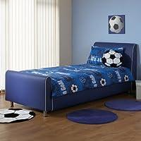 A & I Beds Azure Boys Faux Leather Bedstead - 3FT Single - Blue