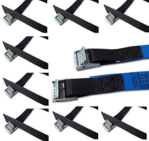 iapyx® Befestigungsriemen-Set ideal zur Befestigung am Fahrradträger, Klemschloss Gurte, Spanngurte (10er Set, schwarz)