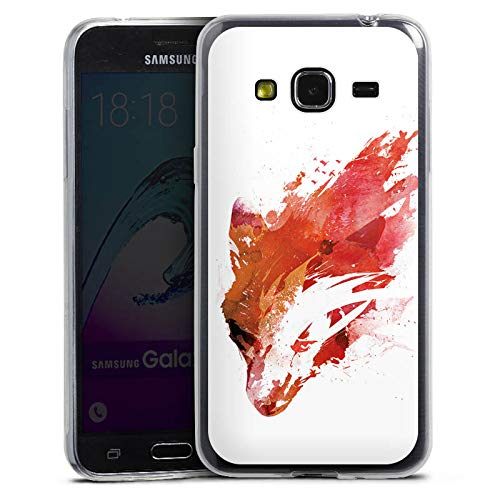 DeinDesign Slim Case Silikon Hülle Ultra Dünn Schutzhülle kompatibel mit Samsung Galaxy J3 Duos 2016 Fox Fuchs Street Art