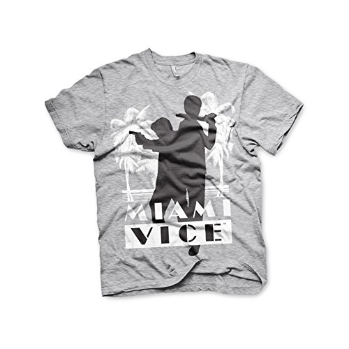 Officially Licensed Miami Vice Silhouettes T-shirt, Grey