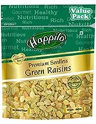 Happilo Premium Seedless Green Raisins 500g, Value Pack