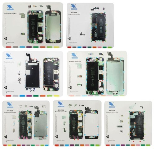 7 in 1 Magnetische Schrauben Mat für iPhone 6s / iPhone 6 Plus / iPhone 6 / iPhone 5S / iPhone 5 / iPhone 4S / iPhone - Schraube Iphone Mat 4