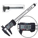 150mm 6inch Digital Vernier Caliper Electronic LCD Plastic Caliper Gauge Micrometer Ruler Carbon Fiber Micrometer Measuring Tool