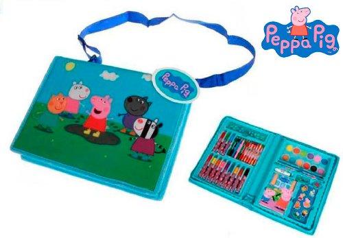 Peppa Pig – Maletín Dibujo Completo, 30 x 22 cm (Fantasy Store PP0100/6867)