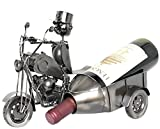 Di Grazia Hand Made Decor Metal Steel Art Bar Decor Wine Rack Bottle Holder, Motorcycle Series Metal Wine Bottle Holder for Wine Lover