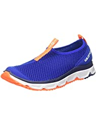 Salomon Rx Moc 3.0, Zapatillas de Running para Asfalto para Hombre, Azul (Surf the Web/White/Shocking Orange), 45 EU