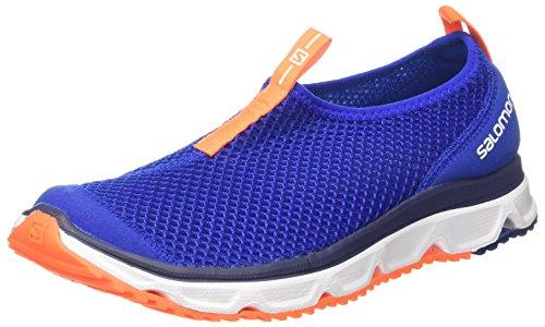 Salomon RX Moc 3.0, Zapatillas de Senderismo para Hombre, Azul (Surf The Web/White / Shocking Orange 000), 46 EU