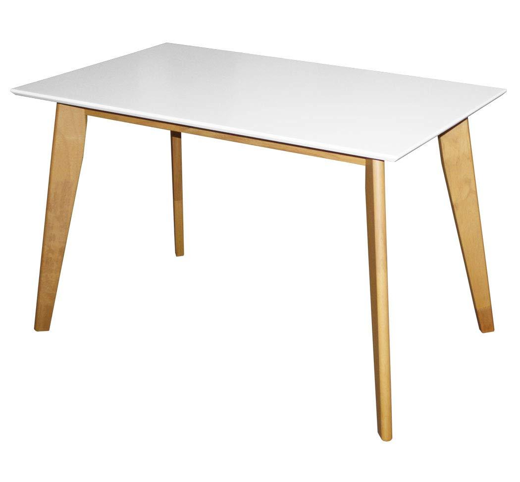KMH®, Rechteckiger Esszimmertisch Jutta (120 x 70 cm) Weiss (#201201) 1