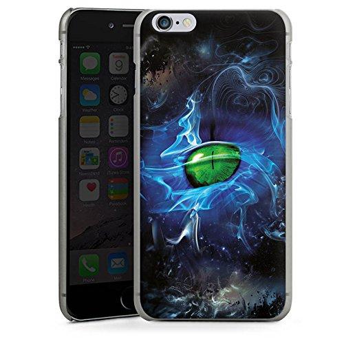 Apple iPhone X Silikon Hülle Case Schutzhülle Augen Grün Eye Hard Case anthrazit-klar
