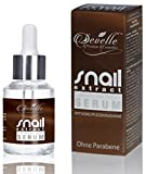 Anti Aging Serum hochkonzentriert - Snail Extract Repair Serum Anti Falten Pflegekonzentrat für Haut Gesicht Dekolleté und Körper 30 ml. Made in Germany