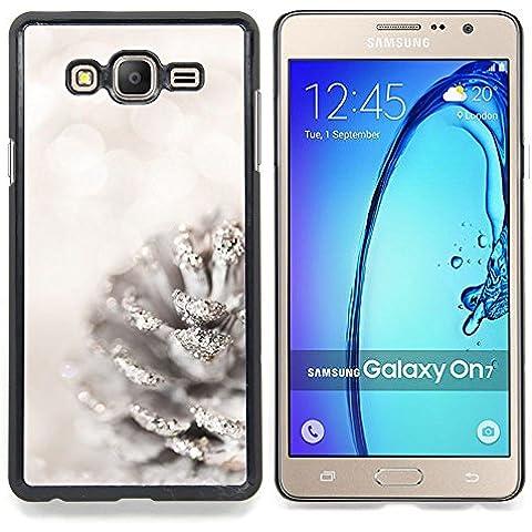 For Samsung Galaxy On7 O7 Case , Blanca Acorn Glitter Nieve Navidad