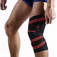 ZSZBACE Knee Wraps (1 Paar) - Elastische Knie und Ellbogen Unterstützung & Kompression - Für Gewichtheben, Kraftdreikampf... preisvergleich bei billige-tabletten.eu