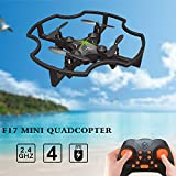 Hanbaili F17 Mini Headless Mode Quadcopter Drone,3 Flips Air Pressure Set High Lightweight Safety Nano Flying toys for Kids