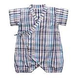 Tyoby Baby Bodys Unisex Retro ischer Yukata-Bandage-Kimono-Overall Baby Spielanzugriemen (Grün,80)