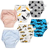 Flyish Pack of 6 Baby Training Pants Kids Training Underwear Toddler Potty Training Pants Baby Underwear Toilet Training Underwear 12Month - 4Year