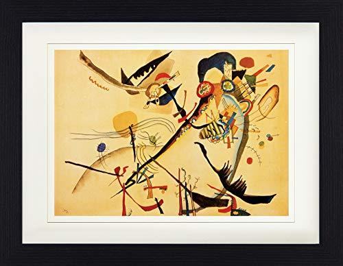Kandinsky Kunst Poster (1art1 113968 Wassily Kandinsky - Studie Für Blaues Segment, 1919 Gerahmtes Poster Für Fans Und Sammler 40 x 30 cm)